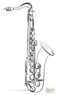 Saxophone Coloring Pages saxophone coloring page free printable coloring pages
