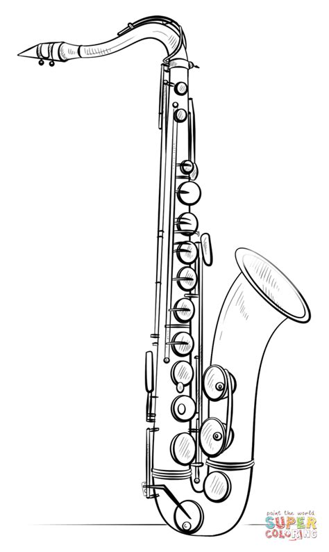 coloring pages jazz instruments saxophone coloring page free printable coloring pages