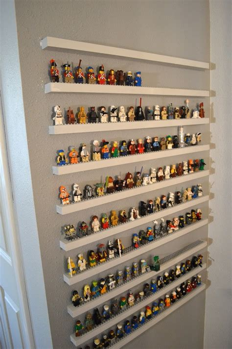 Thin Display Shelf Diy Lego Minifigure Storage Shelves Tutorial