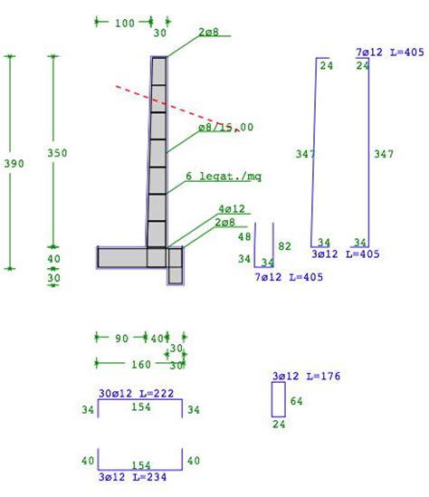 muro di sostegno a mensola it geo muri progetto muri di sostegno in ca e a gravit 224