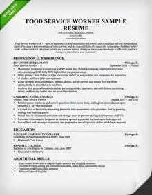 Food Service Cover Letter by Food Service Cover Letter Sles Resume Genius