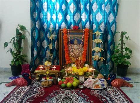 pooja decorations at home ganesh chaturthi decoration ideas ganesh pooja decor