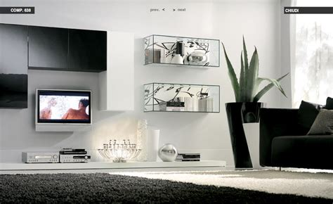 Glass Shelves For Living Room | glass shelves white living room with black rug