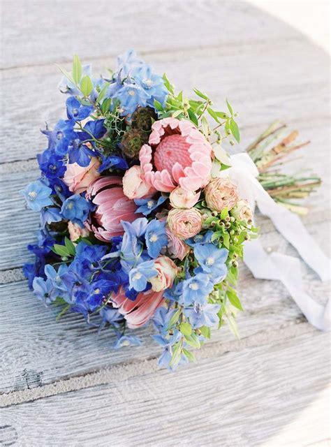 Blue Flowers For Wedding by Beautiful Blue Wedding Bouquets Www Pixshark