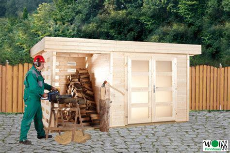 gartenhaus mit holzlager gartenhaus flachdach wolff 171 kombihaus kalle 187 mit