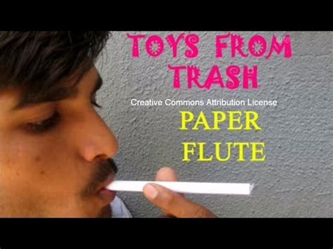How To Make A Paper Flute - musical instruments 5blacklines arts at two