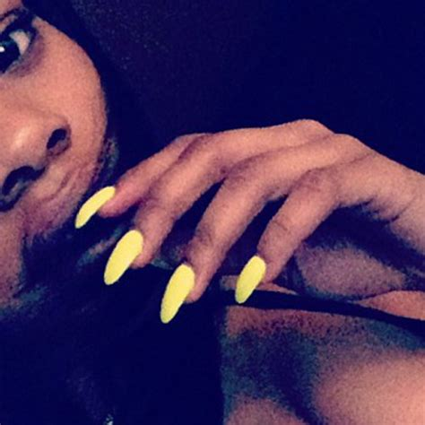 teyana taylor tattoos teyana yellow nails style