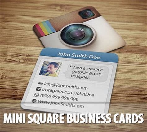 Instagram Card Template by Instagram Business Cards Fragmat Info