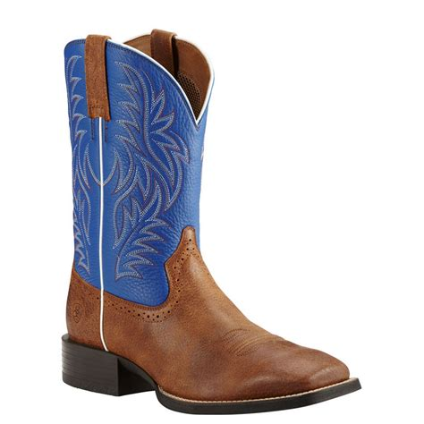 large mens boots ariat sport western wide square toe s boot ebay