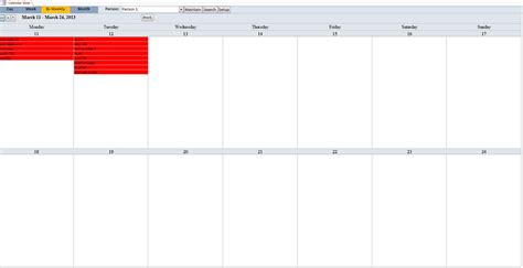 Enhanced Microsoft Access Calendar Scheduling Database Template Microsoft Access Calendar Template