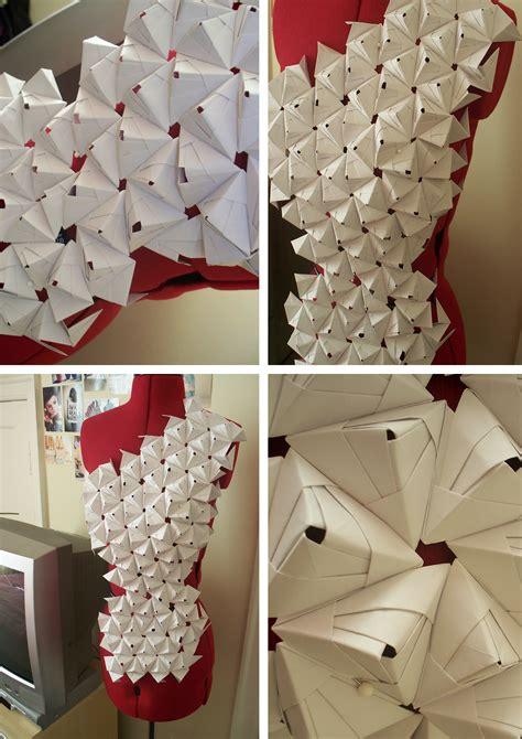Origami Garments - 3d paper manipulation ashleighsmith2