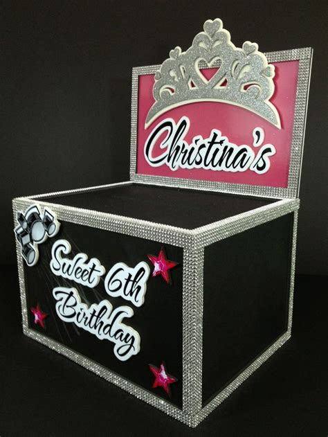 Sweet 16 Gift Card Box - pin by maria tes estrada on party pinterest