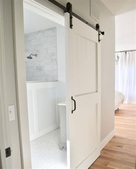 How To Install Barn Door For Bathroom Best 25 Barn Door Sliding Barn Doors For Bathroom