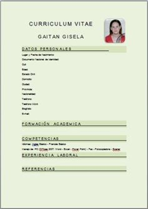 Modelo Curriculum Vitae Simple Para Completar 1000 Images About Curriculum On Search And Illustrations