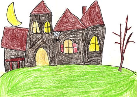 how to draw a haunted house for kids step by step how to draw a haunted house art projects for kids