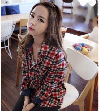 Kemori Shirt Kemeja Wanita Kemeja Import Murah 1 kemeja kotak kotak wanita 2014 model terbaru jual