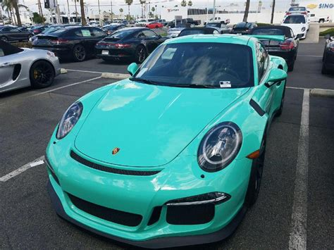 porsche gt3 green mint green porsche 991 gt3 rs sighted