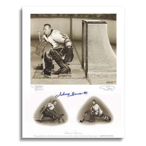 official website for nhl ice effects artist daniel parry johnny bower signed art print by daniel parry original