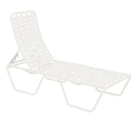 white outdoor chaise lounge tradewinds lido crossweave contract white patio chaise