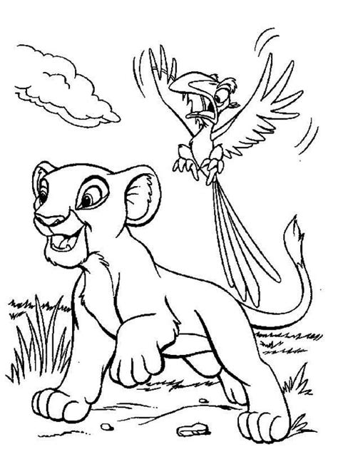 birthday lion coloring page the lion king simba and zazu coloring page birthday