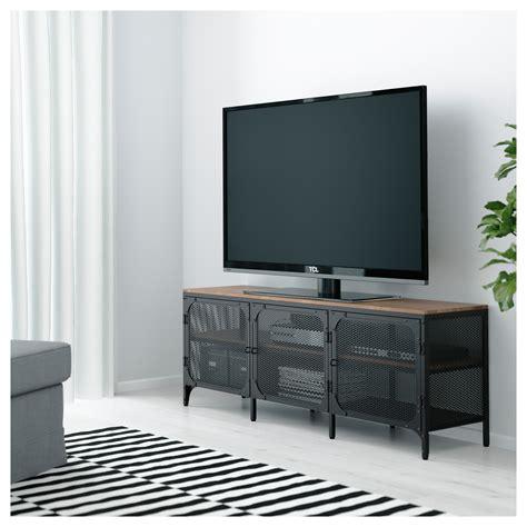 mobile ikea tv fj 196 llbo tv bench black 150x54 cm ikea