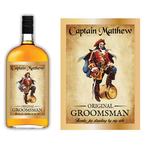 Captain Morgan Groomsmen Liquor Label Icustomlabel Captain Label Template