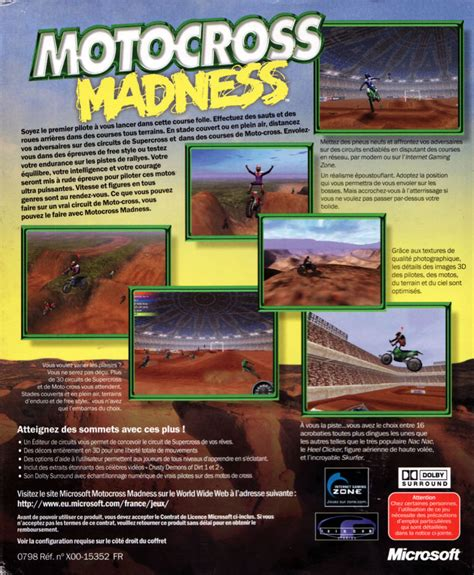 motocross madness 1998 motocross madness 1998 windows box cover mobygames