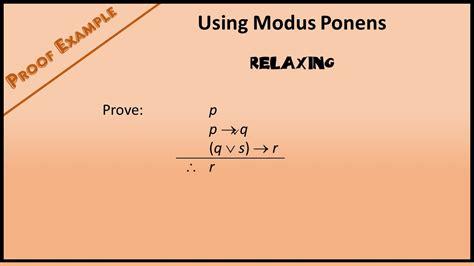 boolean proof exle 1 using modus ponens youtube