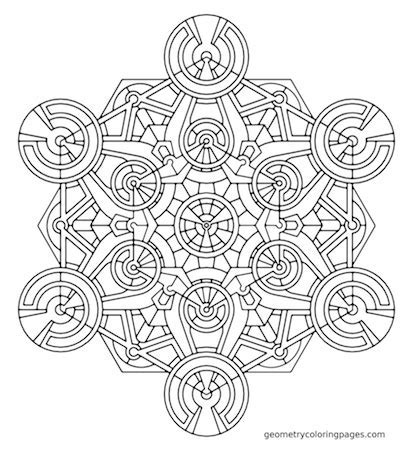 adult coloring book websites - Geometry Coloring Pages : 100 simple ...