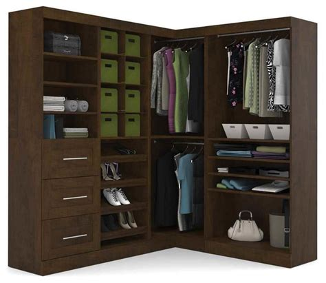 Closet Corner Unit by 82 In Corner Unit In Chocolate Finish