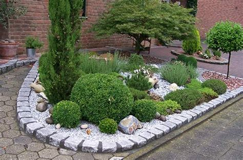 gräser vorgarten gestaltung vorg 228 rten und wegen mit buntkies vorgarten