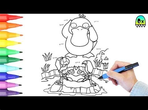 pokemon coloring pages psyduck  kingler colouring book