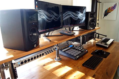 diy home studio desk reclaimed wood diy studio desk