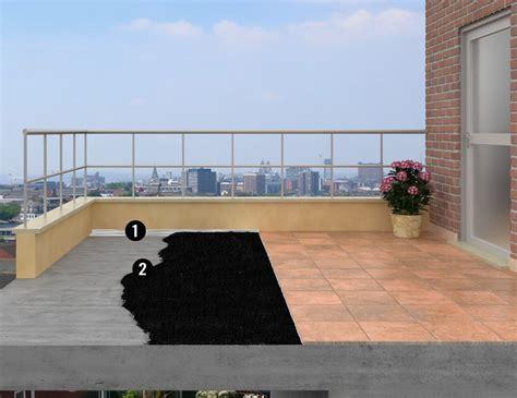 impermeabilizzante per terrazzi sistema impermeabilizzante sottopiastrella per piccoli