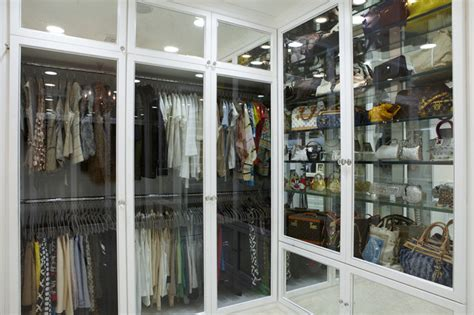 kleiderschrank glas glass front doors contemporary closet la closet design