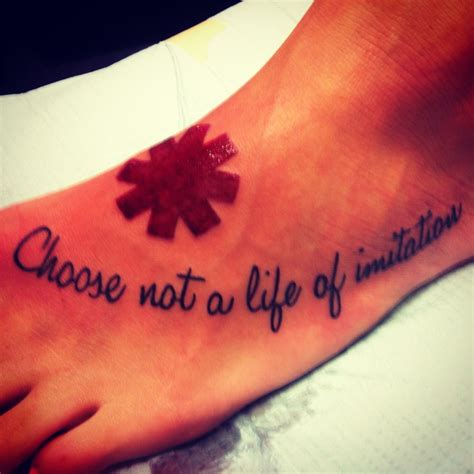 red hot chili peppers tattoo my chili peppers quot choose not a of