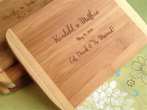 Wedding Gift Cutting Board by Engraved Wood Cutting Board Bridal Shower Gift Wedding