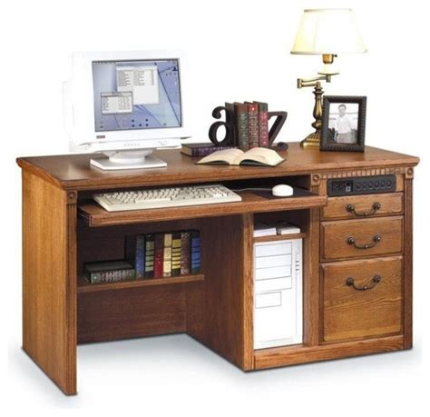 Houzz Office Desk Martin Furniture Martin Furniture Huntington Oxford Office Burnish Computer Desk Desks And