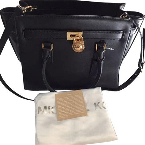 Jual Tas Michael Kors Hamilton Traveller Black Original Asli michael kors hamilton traveler large model 35s6ghxs3l black leather satchel tradesy