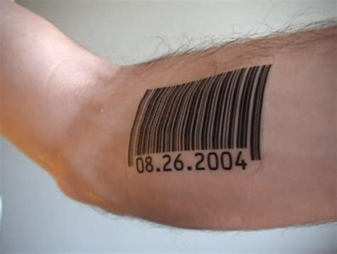 barcode tattoo date barcode tattoo on bicpes creativefan