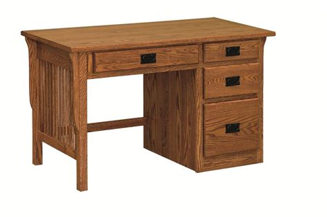 Mission Arts And Crafts Kneehole Desk From Dutchcrafters Laptop Knee Desk