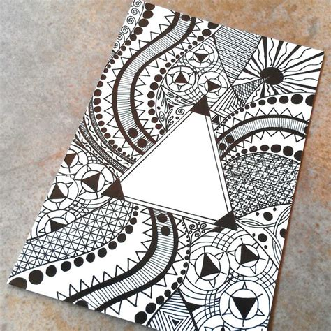 pattern drafting ideas triangle pattern drawing photo art print by