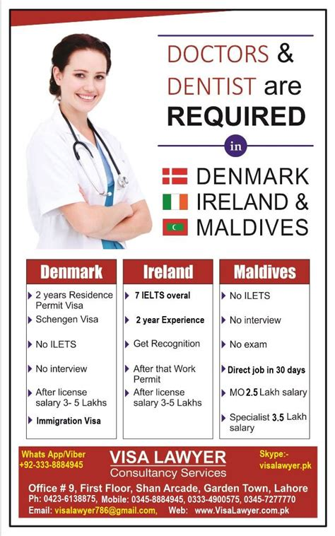 Work Permit After Mba In Denmark by Dentists Doctors Required In Denmark Ireland And