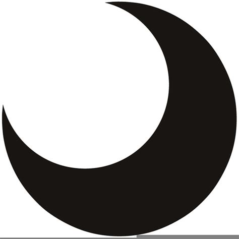 crescent moon clipart crescent moon free images at clker vector
