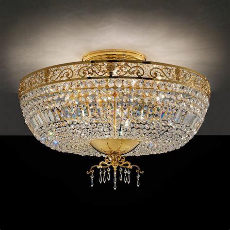 Gold Ceiling Lights Classic Italian Designer Gold Plated Ceiling Light Juliettes Interiors