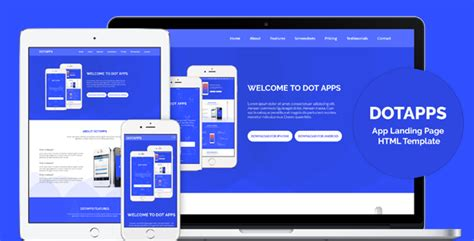 Dotapps App Landing Page Html Template By Dot Themes Themeforest Woocommerce Landing Page Template
