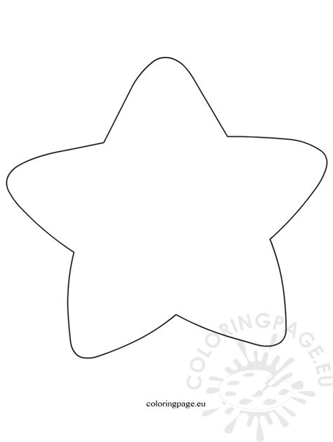 large star template coloring page