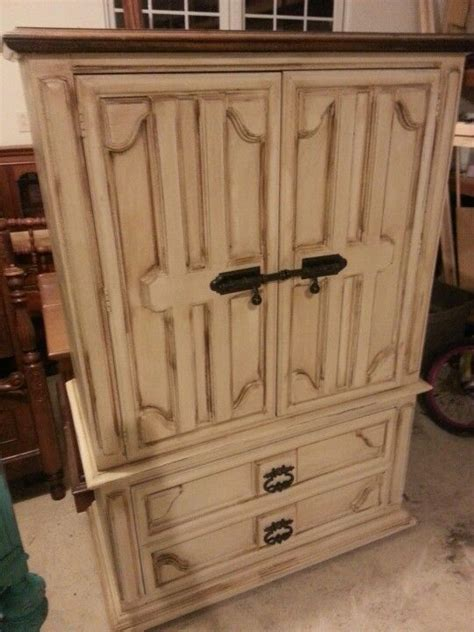 Painted Armoire Furniture by Distressed Armoire Painted Furniture