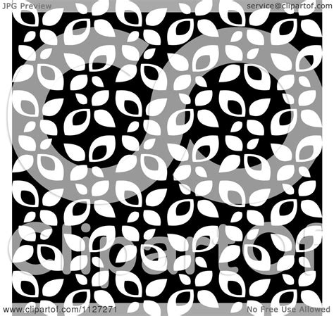 black and white leaf pattern leaf pattern clipart 71