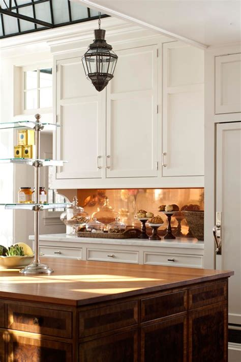 copper backsplash kitchen 27 trendy and chic copper kitchen backsplashes digsdigs